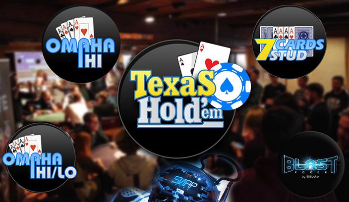 Доступные покерные игры после установки клиента 888poker - Хай-Лоу Омаха; Бласт-покер; Техасский Холдем; 7-карточный Стад; 5-карточная Омаха; SNAP.